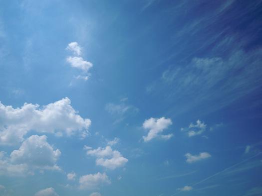 名古屋の9月の青空。