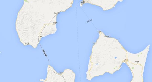 津軽海峡を渡る