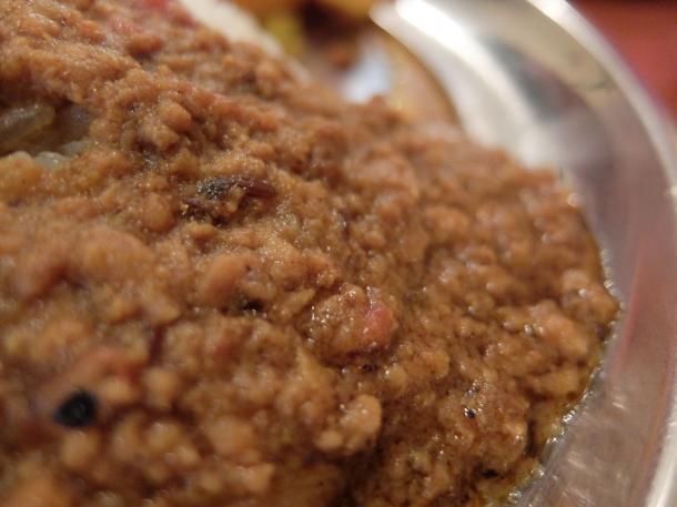 ひよこ豆入り豚肉キーマカリー