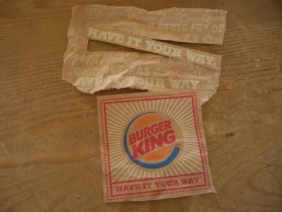 バーガーキング紙袋