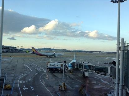 夕暮れの仁川空港
