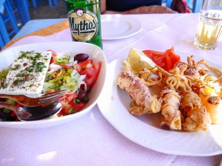バロスビーチ昼食