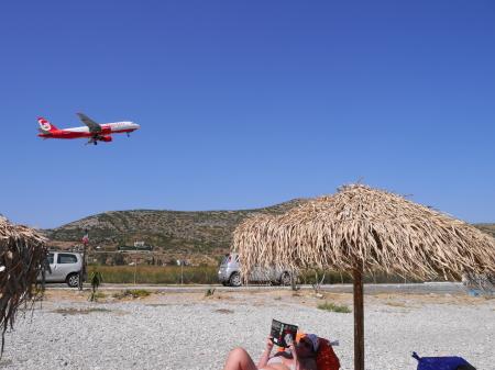 ポトカキビーチの飛行機