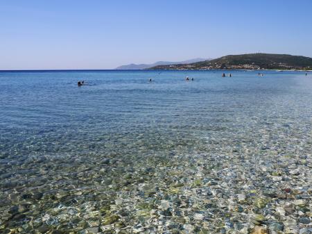 泳ぎやすいミカリビーチ