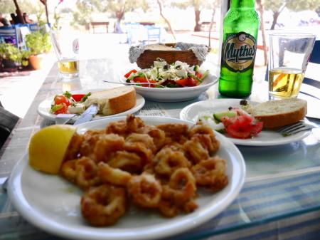 ミカリビーチ昼食