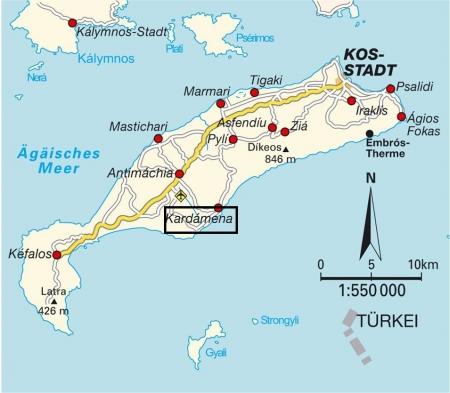 コス島地図