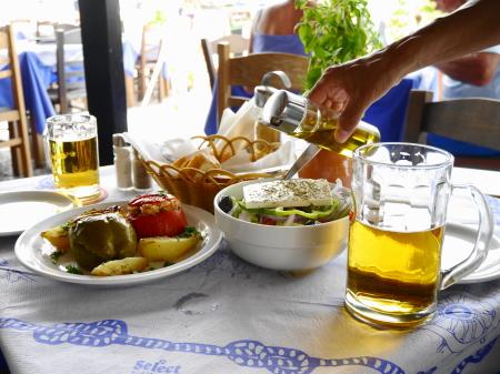 マスティハリビーチ昼食