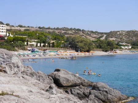 遺跡反対側のビーチ