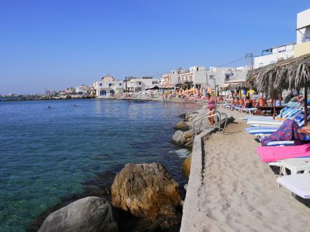 カルダメナのビーチ