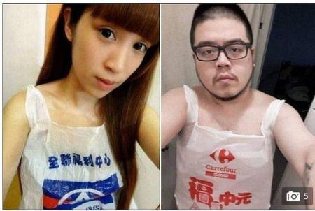 台湾 レジ袋 水着4
