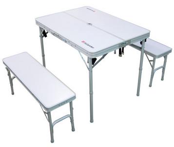 万能テーブルチェアセットHilander(ハイランダー) セパレートベンチテーブルセットII 4人用