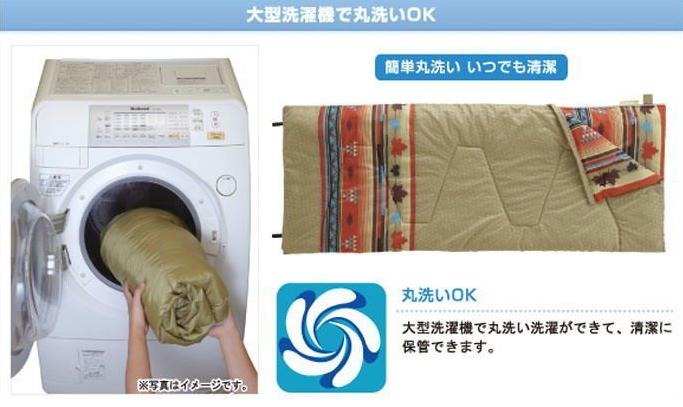 2つあれば連結もOK!ロゴス(LOGOS) 丸洗い寝袋ナバホ・6×2