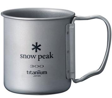 ファミリー、オートキャンプまでスノーピーク(snow peak) チタンシングルマグ 300 フォールディングハンドル