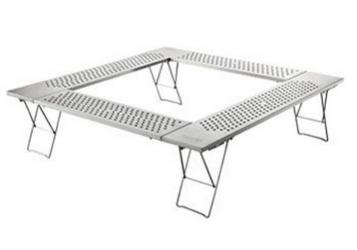オールステンレス製Coleman(コールマン) ファイアープレイステーブル