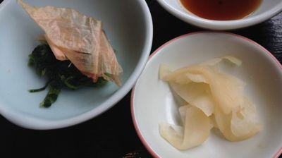 さわらの西京焼定食 小鉢と漬け物