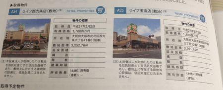 ユナイテッド・アーバン 大阪のライフの底地を取得です