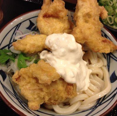 丸亀製麺 タル鶏天ぶっかけうどん
