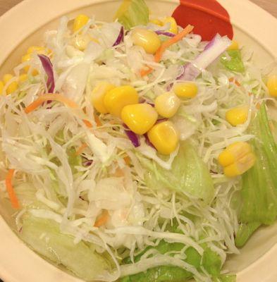 四川風旨辛麻婆豆腐定食 生野菜