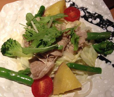 温野菜の豚しゃぶ定食 メイン