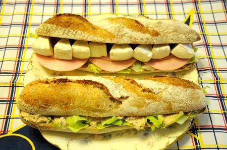 バゲットのサンドイッチ