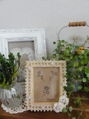 白い花フレーム3