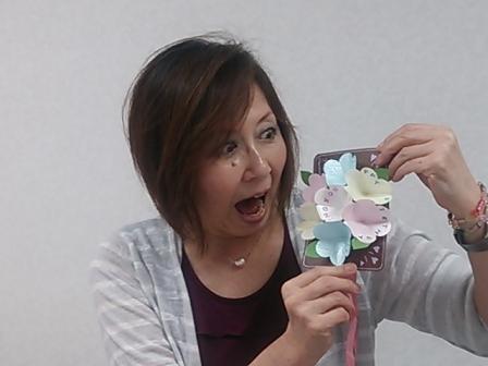 お花が飛び出す手作りカード