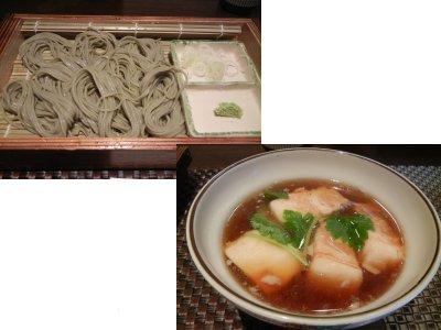 角煮 へぎ蕎麦セット・内訳