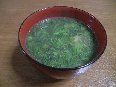 かんこのアラ出汁で味噌汁