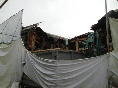 150419太栄館・解体工事中