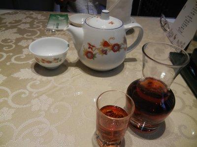 紹興酒とジャスミン茶