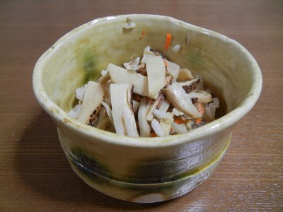 松茸ご飯 in 黄瀬戸茶碗