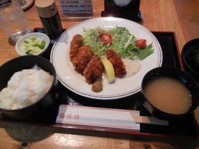 かきフライ定食