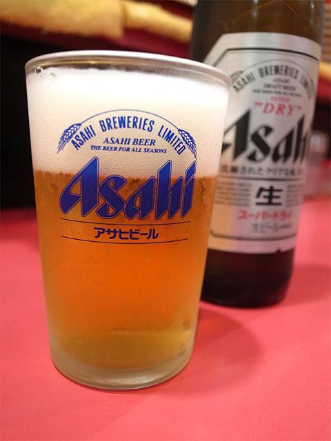 150429中華そば○ぶつだん通りの店-ビール