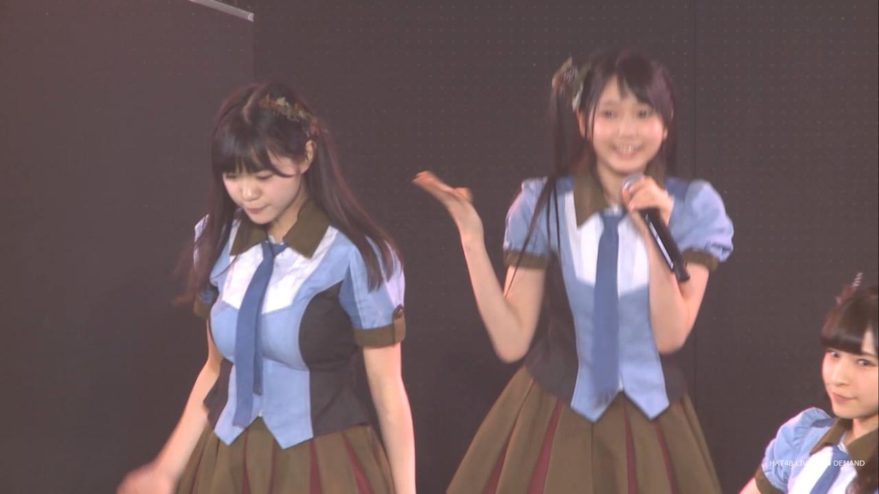 爆乳化したHKT48・田中優香の着衣おっぱい