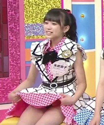 「HKT48のごぼてん!」、ノーパンでパンチラしてマン毛(アンダーヘア)が見えてしまうHKT48・矢吹奈子