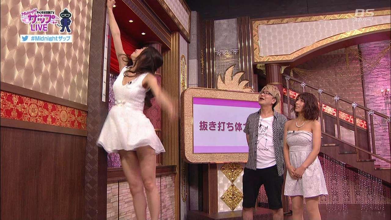 生放送の「Midnightザップ!」にノーパンで出演、ジャンプしてマン毛が映ってしまった女の子