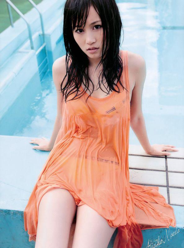 びしょ濡れの前田敦子