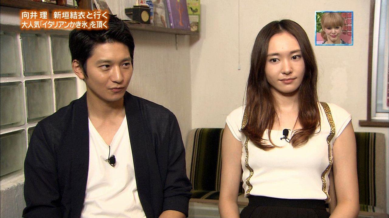 TBS「ぴったんこカンカン」で胸が強調される衣装を着た新垣結衣のおっぱい