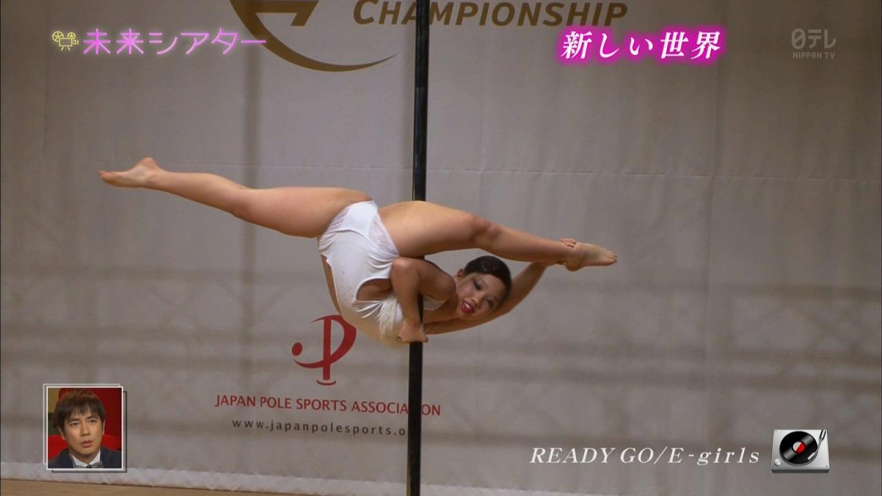 日テレ「未来シアター」でポールダンスを踊る巨乳の女子小学生(12歳)