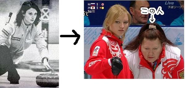 美人だったロシアのカーリング選手の劣化後の姿