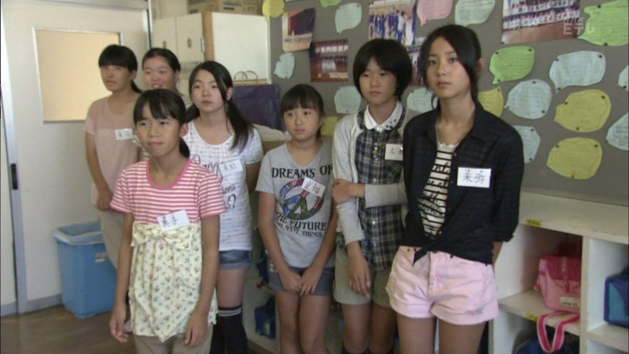 並んで立った女子小学生の顔面格差、格差社会