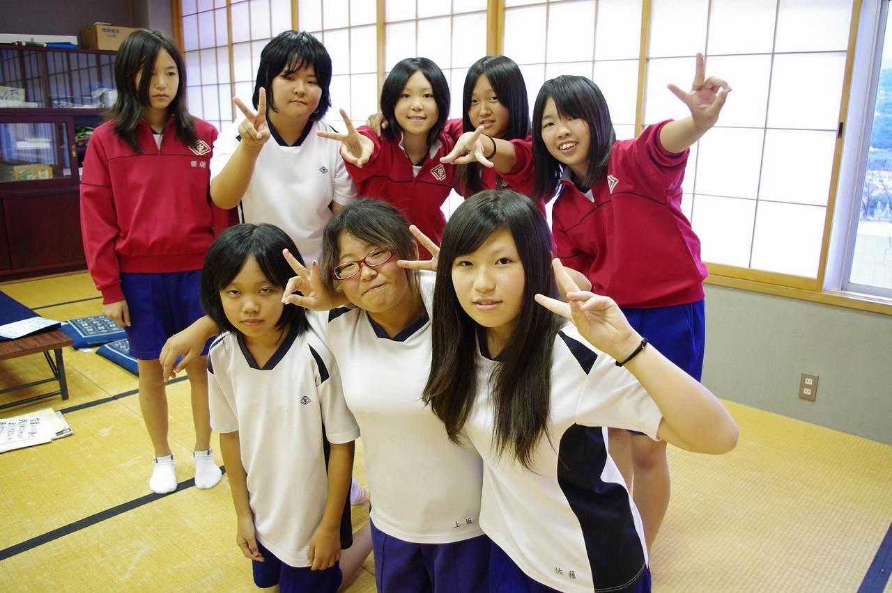 日本人女子中学生(JC)の集合写真
