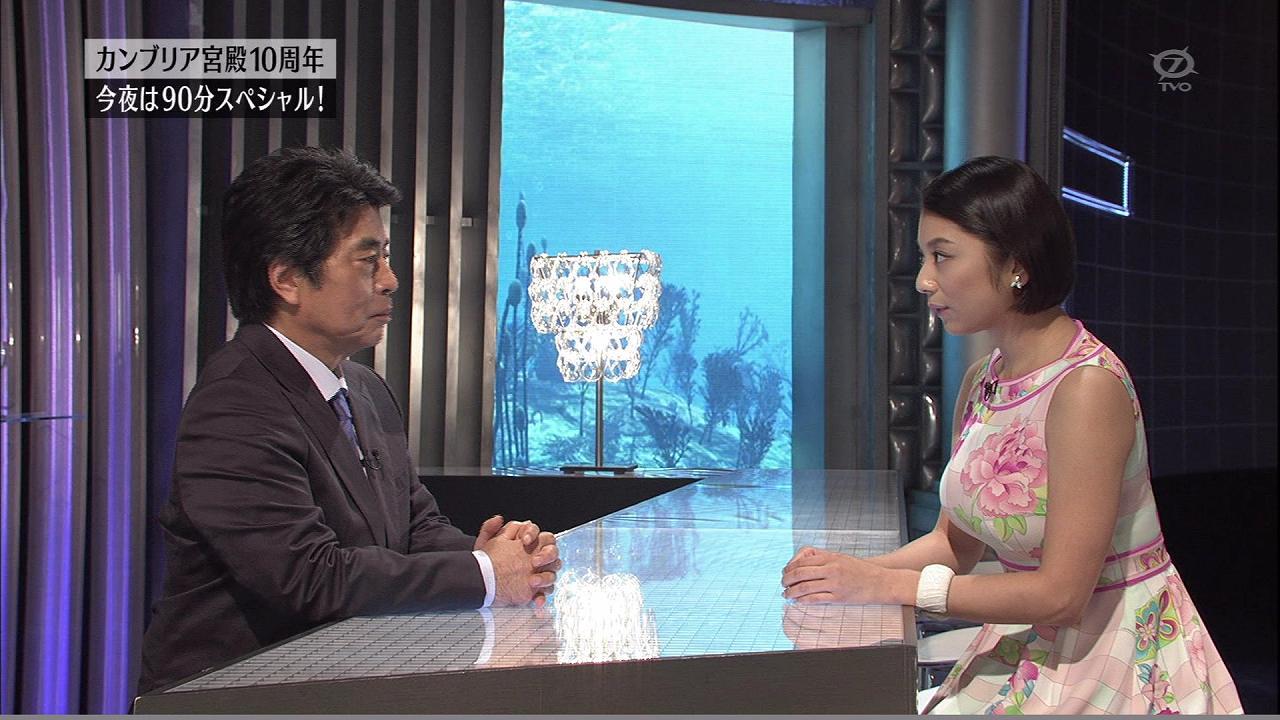 2015年9月24日、体のラインが出るワンピースを着て「カンブリア宮殿」に出演した小池栄子のおっぱい