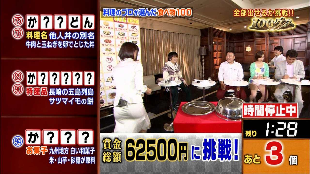 「日曜芸人」、白のタイトスカートを履いてパン線くっきりの竹内由恵