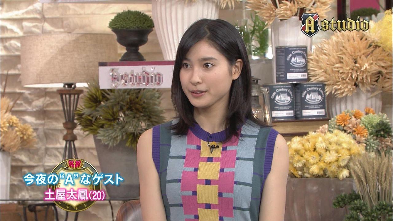 TBS「A-Studio」に胸が強調される衣装で出演したまれの土屋太鳳