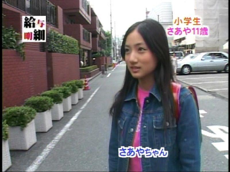 ジュニアアイドル時代、11歳の紗綾