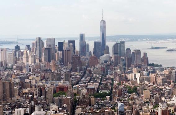 マンハッタンを北から見た写真 今