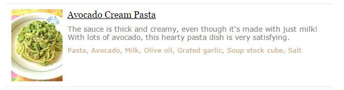 Avocado Cream Pasta