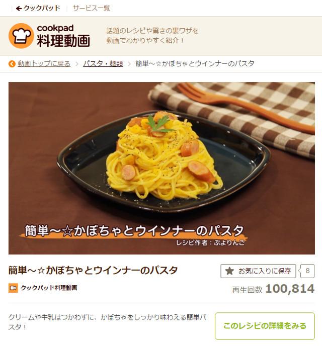 """簡単〜☆かぼちゃとウインナーのパスタ"""""""