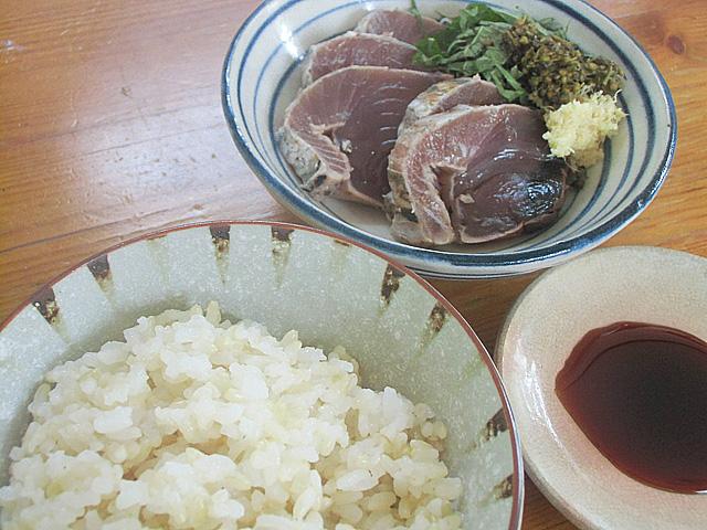 カツオと玄米